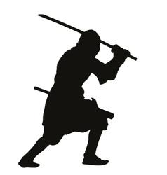 Ninja warriors theme vector