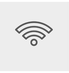 Wifi thin line icon vector