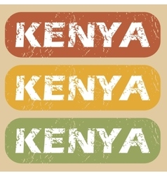 Vintage kenya stamp set vector