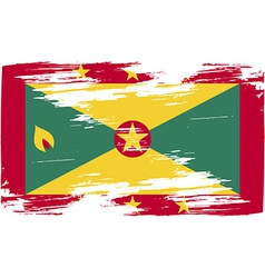 Flag of grenada with old texture vector
