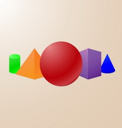 Basic geometrical shapes vector
