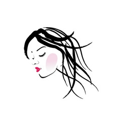 A lady with dreadlocks- dreadlock fashion graphic vector