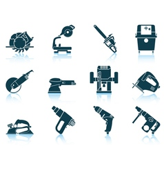 Set of electrical work tool icon vector