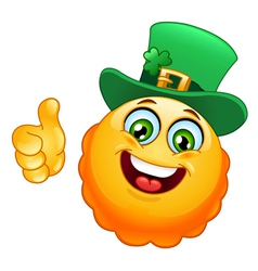 Leprechaun emoticon vector