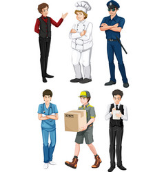 Different male professions vector