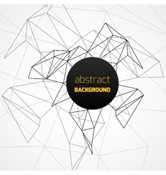 Geometrical background with black lines vector