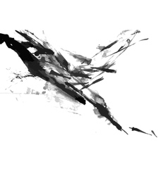 Abstract ink paint background vector