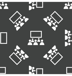 People in front of screen pattern vector