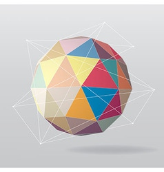 Colorful globe geometrical background vector