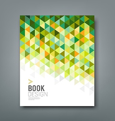Cover report green triangle geometric pattern vector
