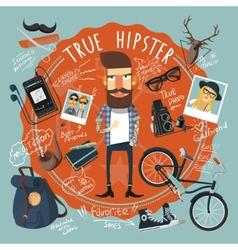Hipster concept seal icon vector