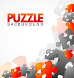 Corner puzzle vector