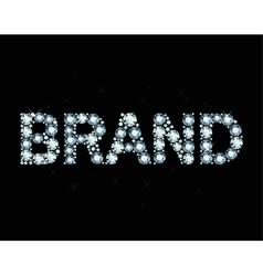 Diamond word brand vector