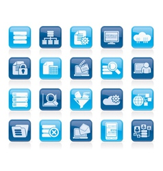 Data and analytics icons vector