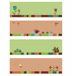 Nature banners vector