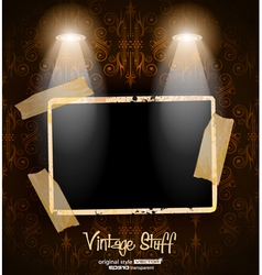 Antique distressed photoframes vector