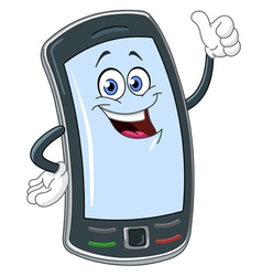 Smart phone cartoon vector