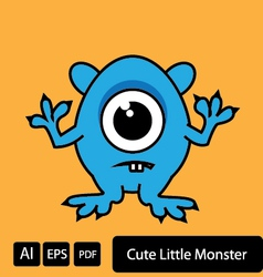 Cute little monster vector