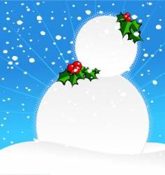 Ugly snowman vector