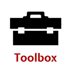 Toolbox black icon isolated on white background vector
