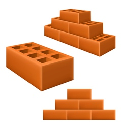 Brick set vector