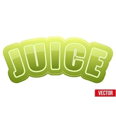 Label for celery juice bright premium design vector