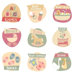Baby life flat icons vector