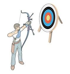 Shot with arrow vector