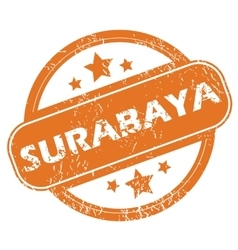 Surabaya round stamp vector