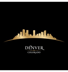 Denver colorado city skyline silhouette vector