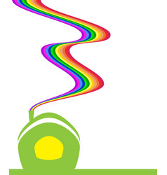 Rainbow house vector