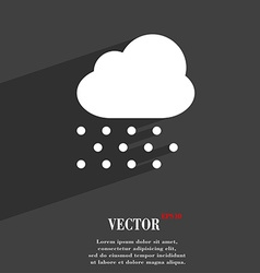 Snowing icon symbol flat modern web design with vector