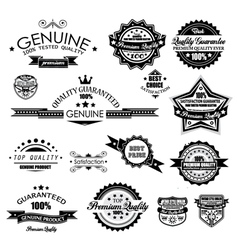 Premium quality labels vector