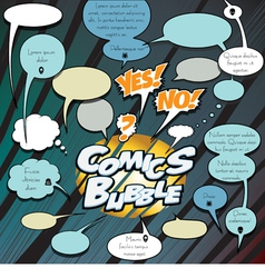 Comics bubbles dialog vector