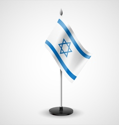 Table flag of israel vector