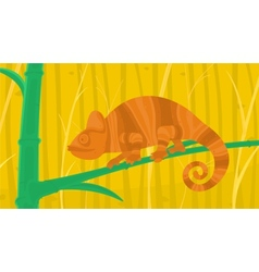 Chameleon in the forest vector