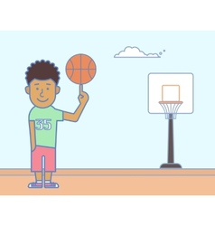 Young basketball player vector