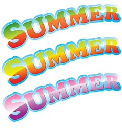 Summer colorful sign vector