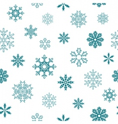 Seamless snowflakes vector
