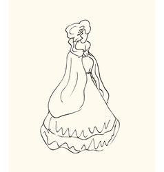 Old fashioned woman design vector