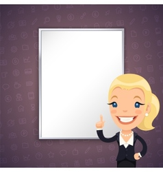 Purple business background with businesswoman vector