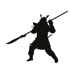 Samurai warriors theme vector