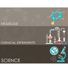 Three science banners infographics vector