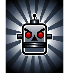 Evil retro robot vector