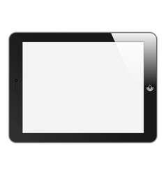 Realistic tablet pc with blank screen horizontal vector