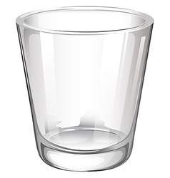 A plain drinking glass vector