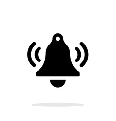 Ringing bell simple icon on white background vector