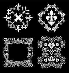 Wine ornaments vector
