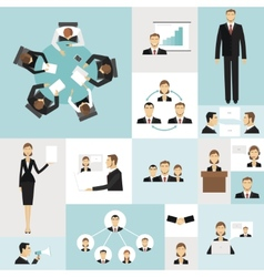 Business meeting icons vector