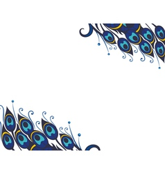 Peacock feathers background vector